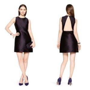 Kate Spade black silk cocktail backless dress 00